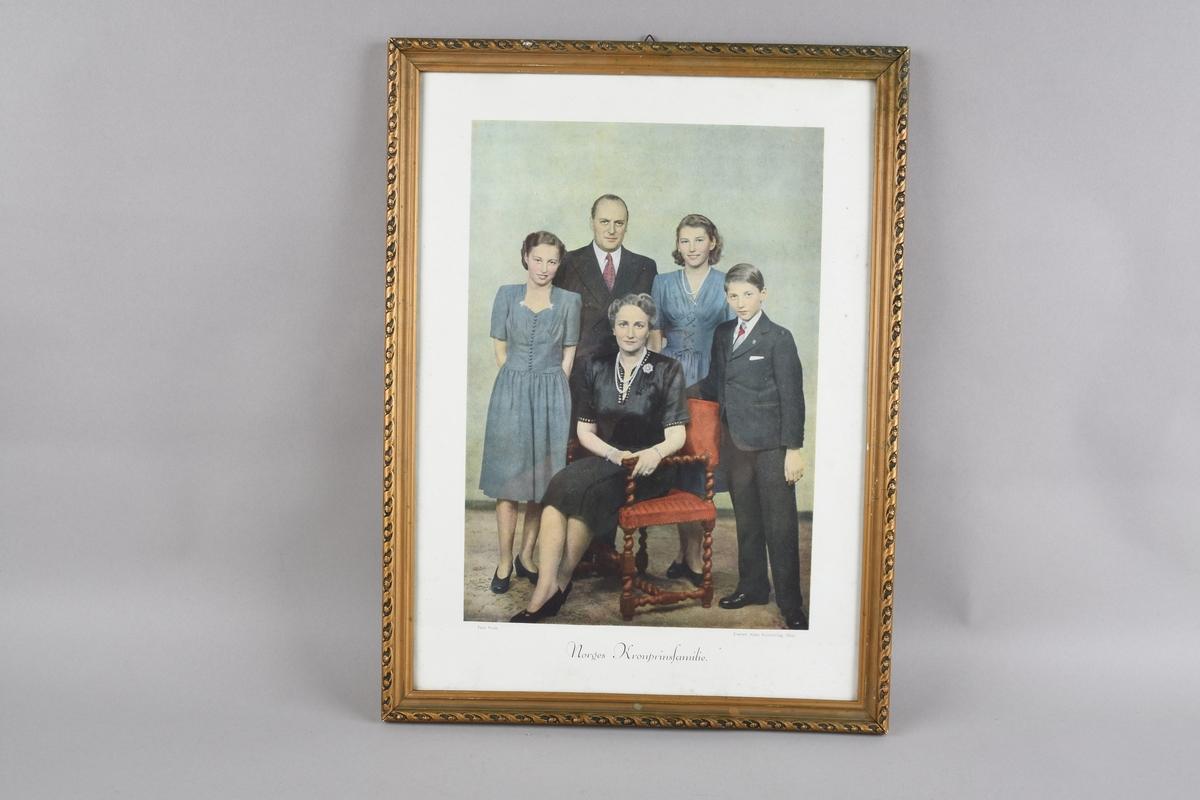 Portrett av norges, den gang, kronprinsfamilie.