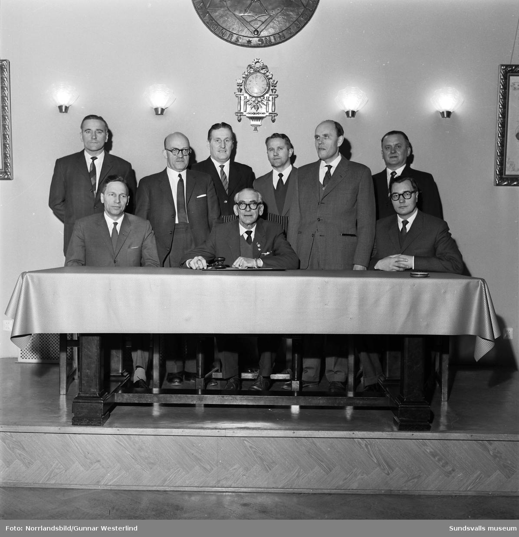 Hantverksföreningens styrelse 1961.