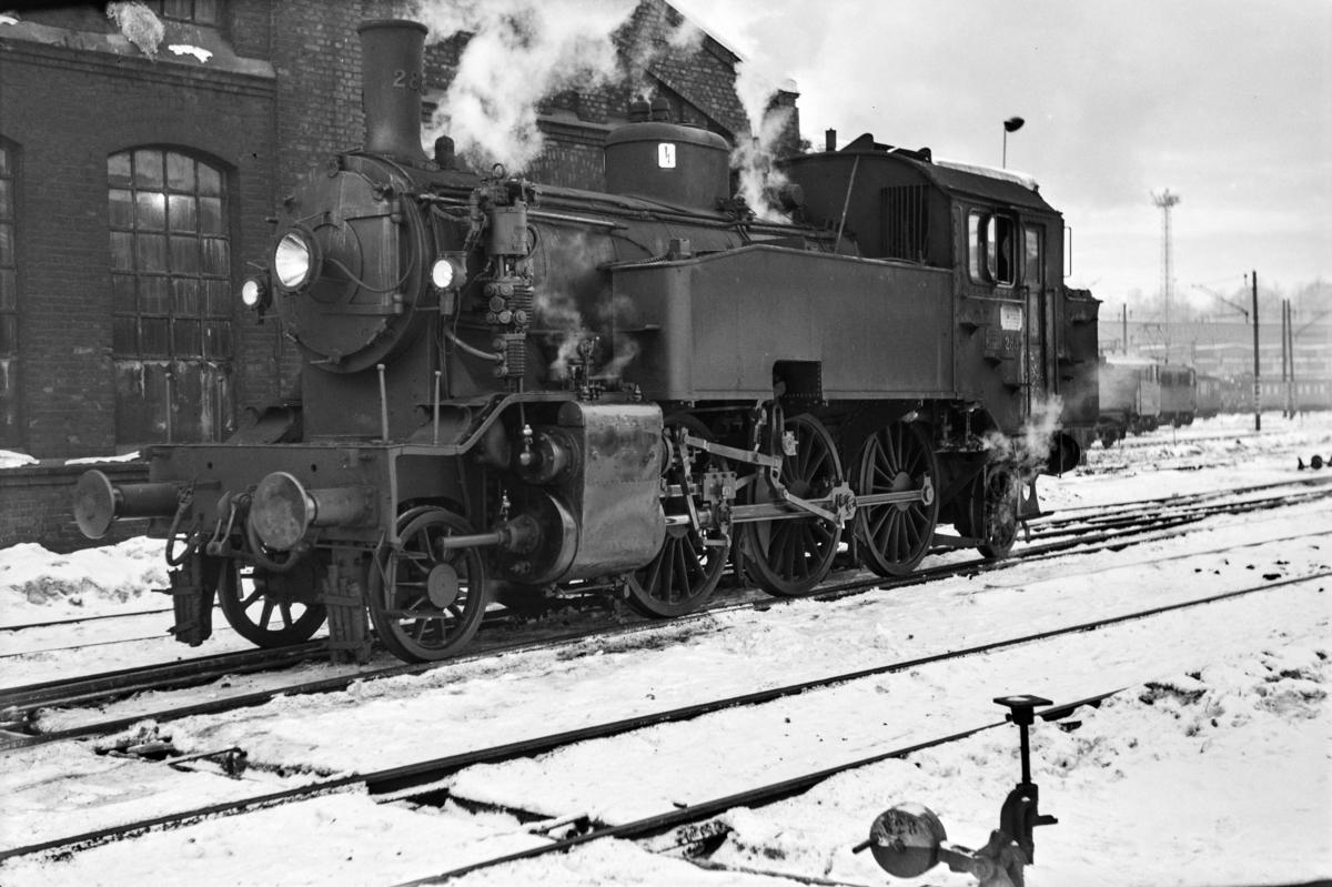Damplokomotiv type 32a nr. 288 ved Gamlestallen i Lodalen i Oslo.
