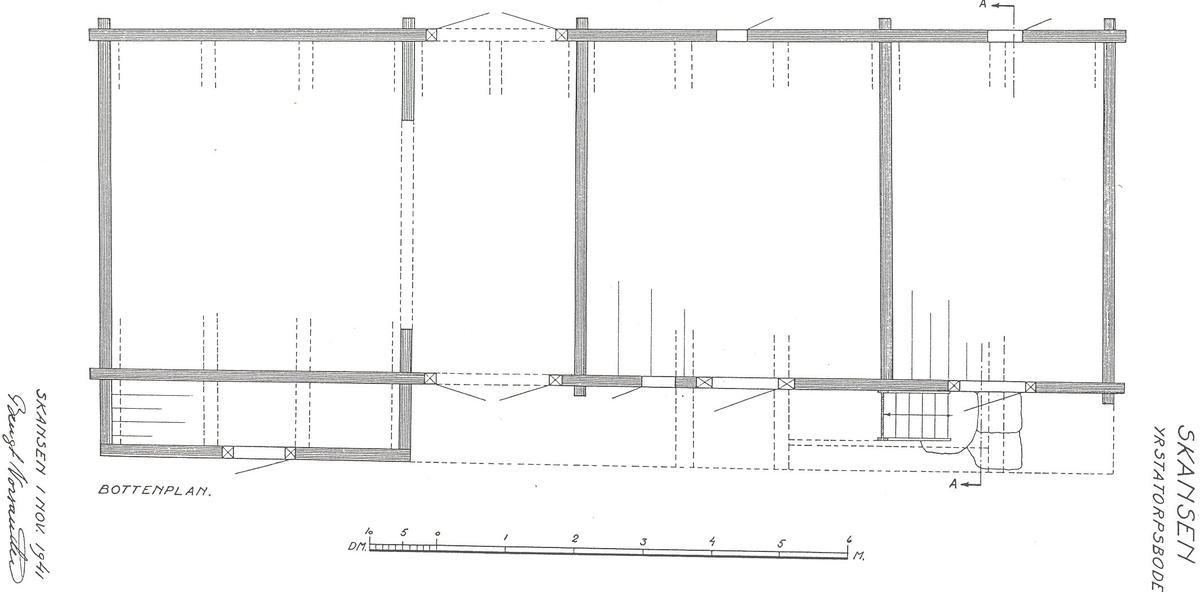 Yrstatorpsboden på Bergsmansgården är en tvåvånig timrad loftbod med öppen svalgång. Fasaden är omålad och delvis klädd med stående panel. Taket är ett valmat torvtak med tätskikt av näver.   Byggnaden har tre bodar samt portlider i bottenvåningen samt fyra bodar på övervåningen. En trappa leder upp till svalgången och övervåningen.  Yrstatorpsboden kommer från Vikers kapellförsamling i Nora bergslag i västra Västmanland och är troligen uppförd under 1700-talets senare del. Den flyttades till Skansen 1926.