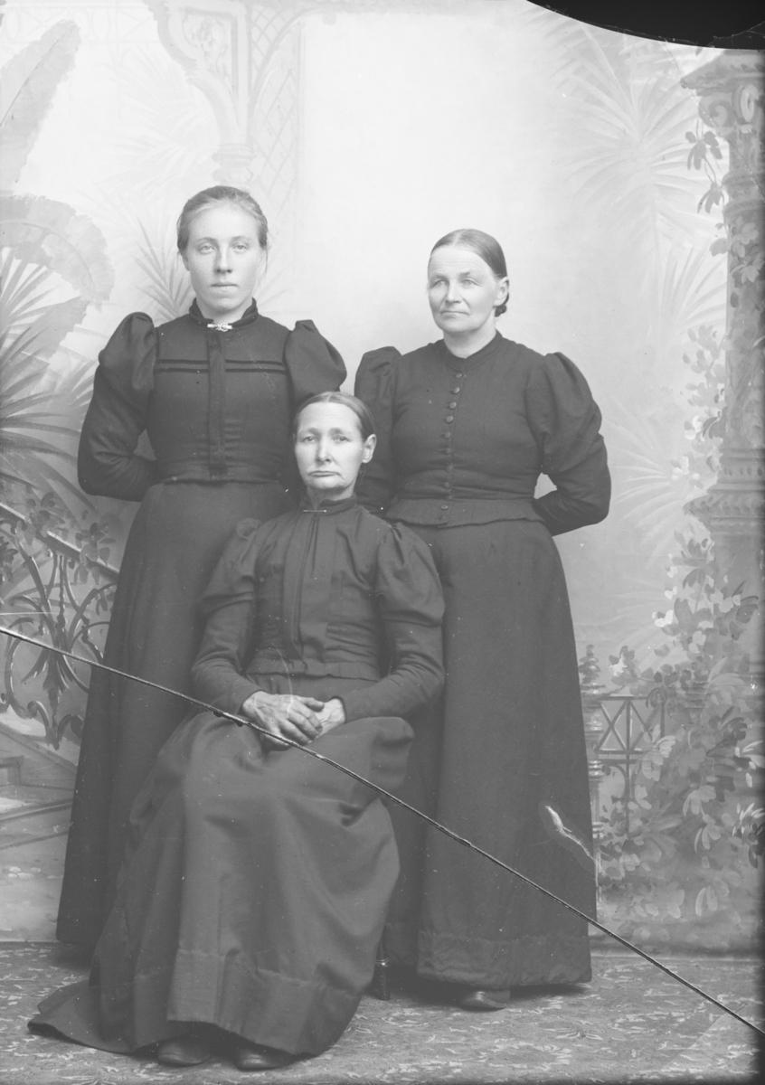 Gruppebilde, helfigur tre kvinner, Anna Kolloen sin gruppe
