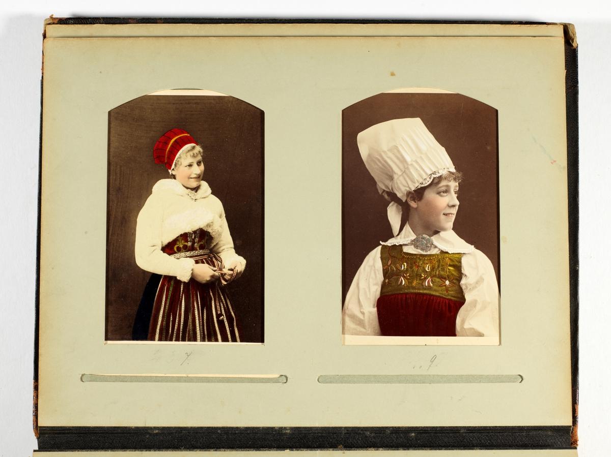 Håndkolorerte portretter.