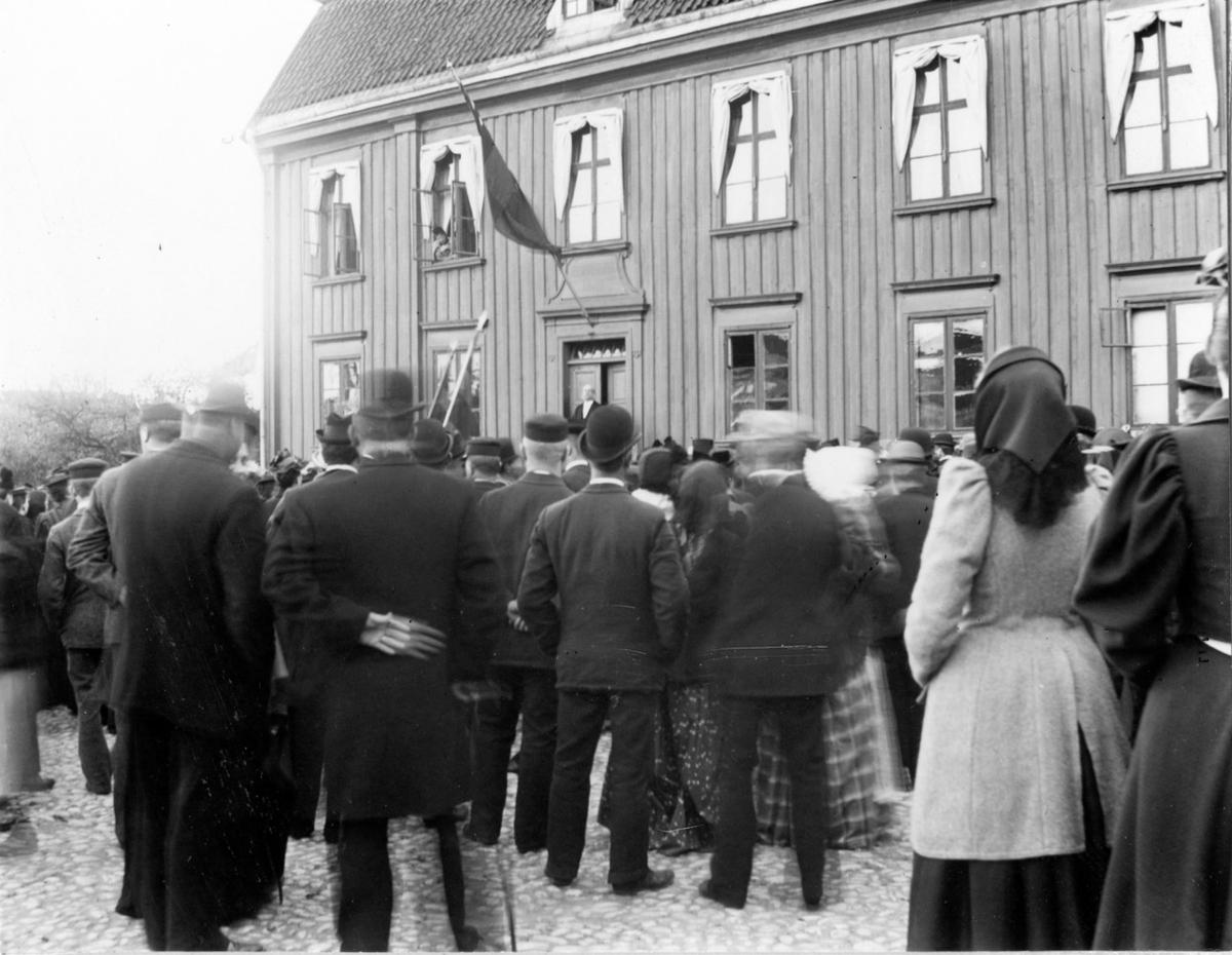 400års minnet av Gustav Vasas födelse firas på Stora Torget i Alingsås den 12 maj 1896.