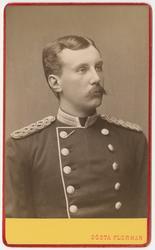 Porträtt av Gustaf Ölander, underlöjtnant vid Första livgren