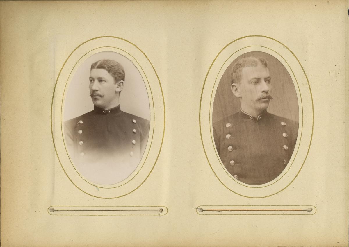 Porträtt av Emil Georg Wockatz, underlöjtnant vid Bohusläns regemente I 17.