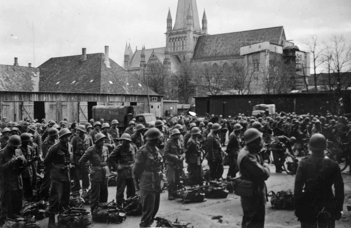 Norske politistyrker i Trondheim,mai 1945.