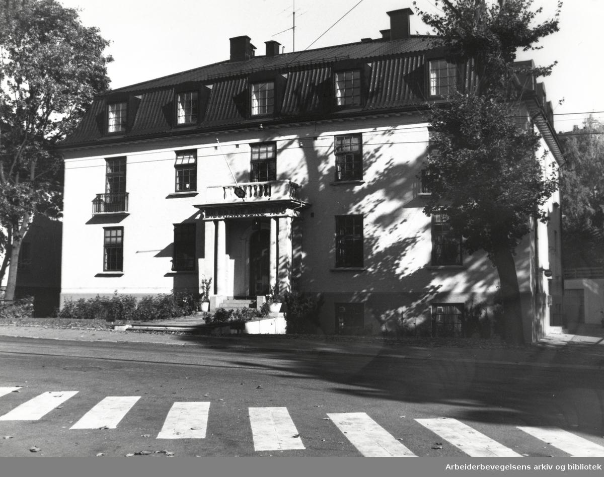 Drammensveien 97. Oktober 1989