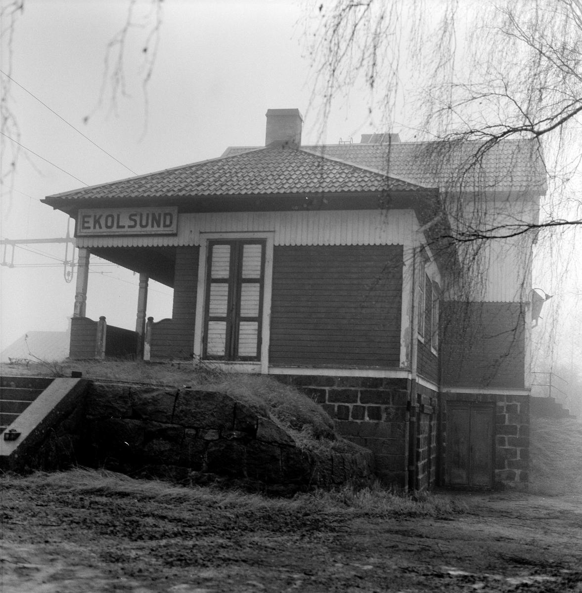 Stockholm - Västerås - Bergslagen Järnvägar, SWB Ekolsund station.