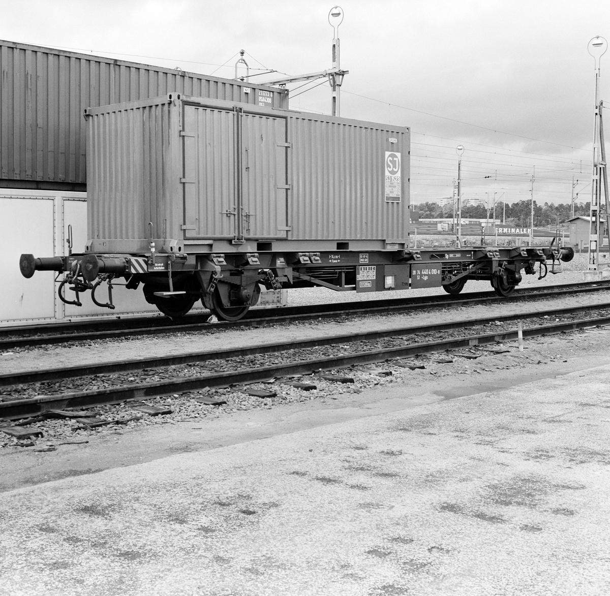 Statens Järnvägar SJ Lgjs 741 Containervagn  Årsta