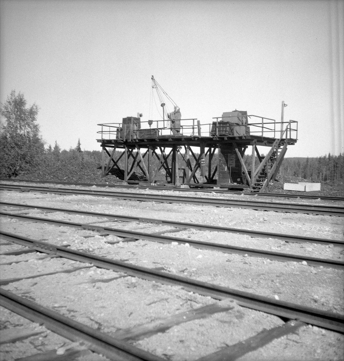 Jokkmokk station med persontåg