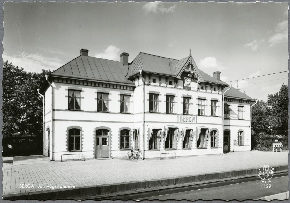 Järnvägsstationen i Berga, Högsby kommun.