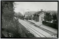 Forshammas station, Köping - Uttersbergs Järnväg  KURJ lok 5