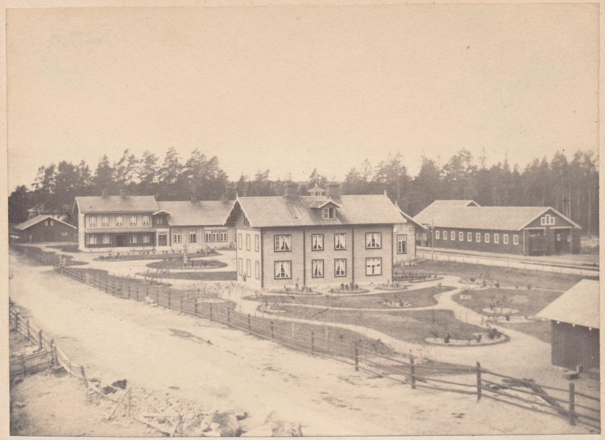 Hallsberg 1863 Hotell och godsmagasin
