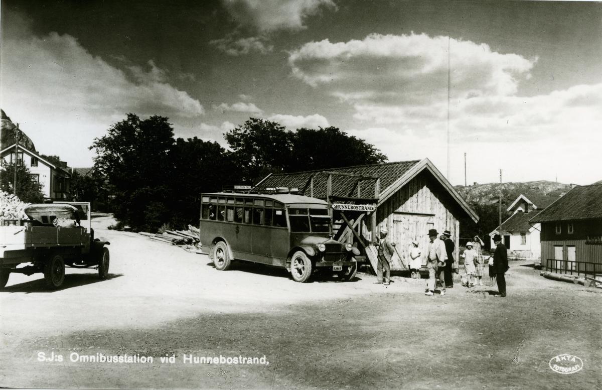 SJ:s omnibusstation vid hunnebostrand