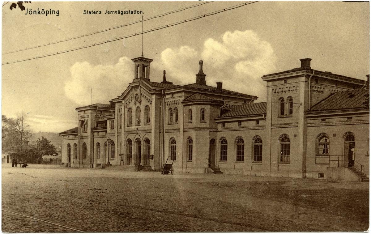 Jönköpings stationshus från gatusidan.