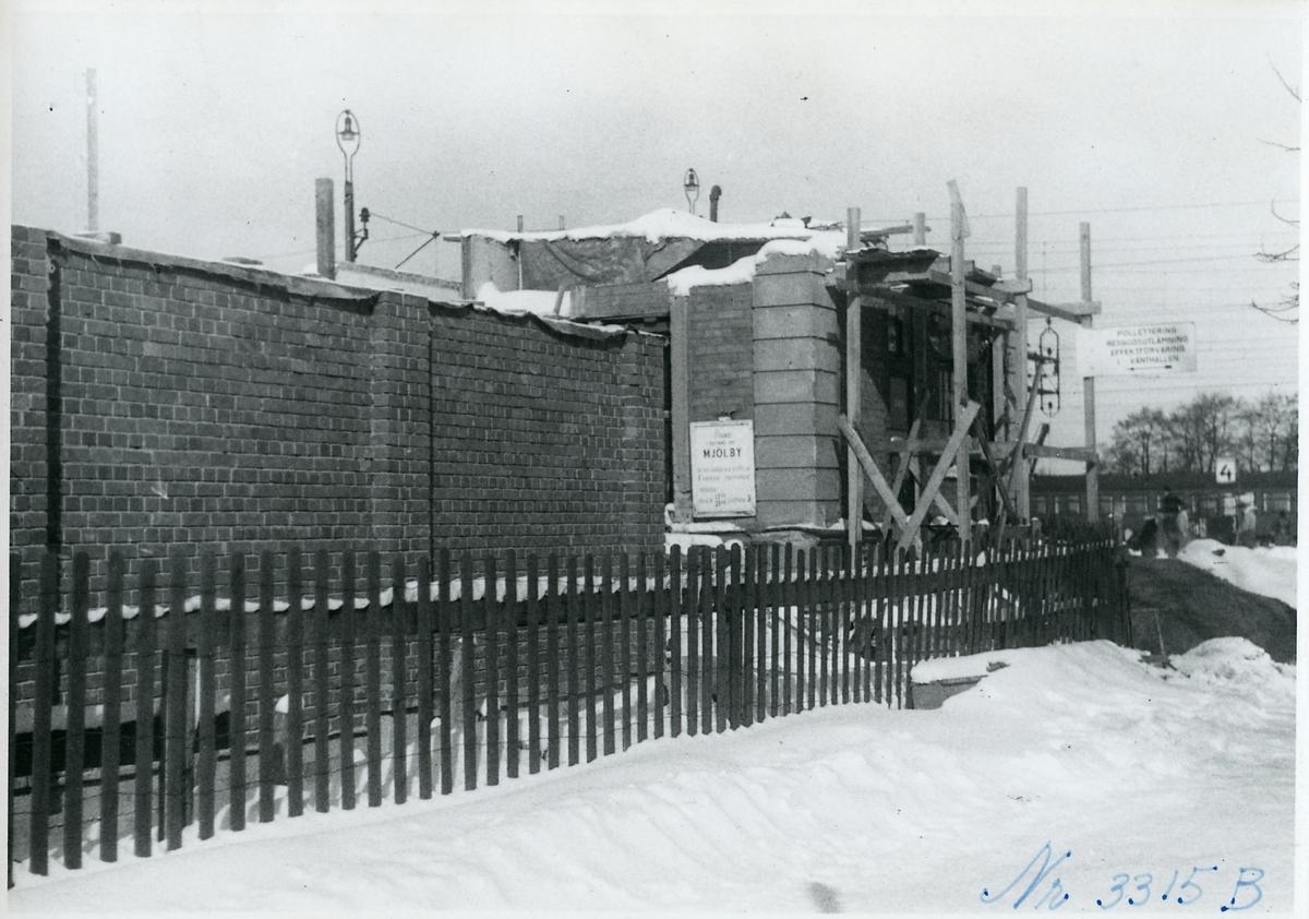 Linköpings station under ombyggnad.