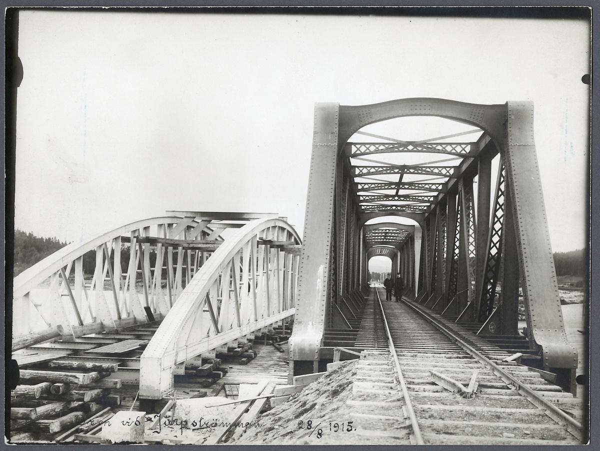Byte av överbyggnaden på Järpenbron.