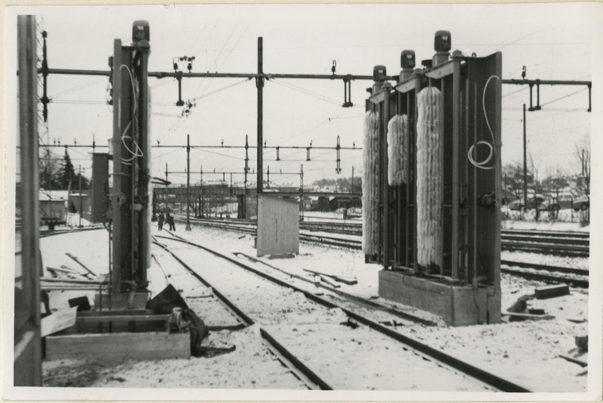 Tvättanläggningen vid Göteborg vagnstation.