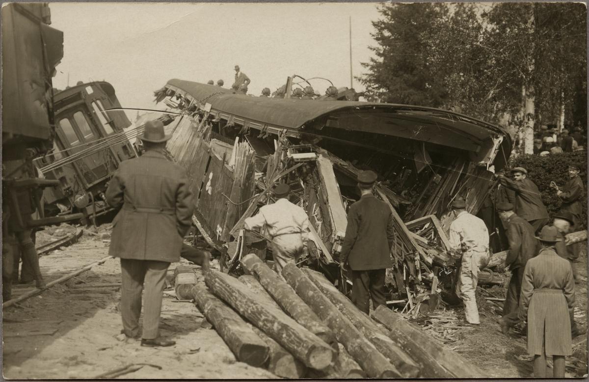 Tågolycka mellan Bollnäs och Kilafors vid Lenninge.
