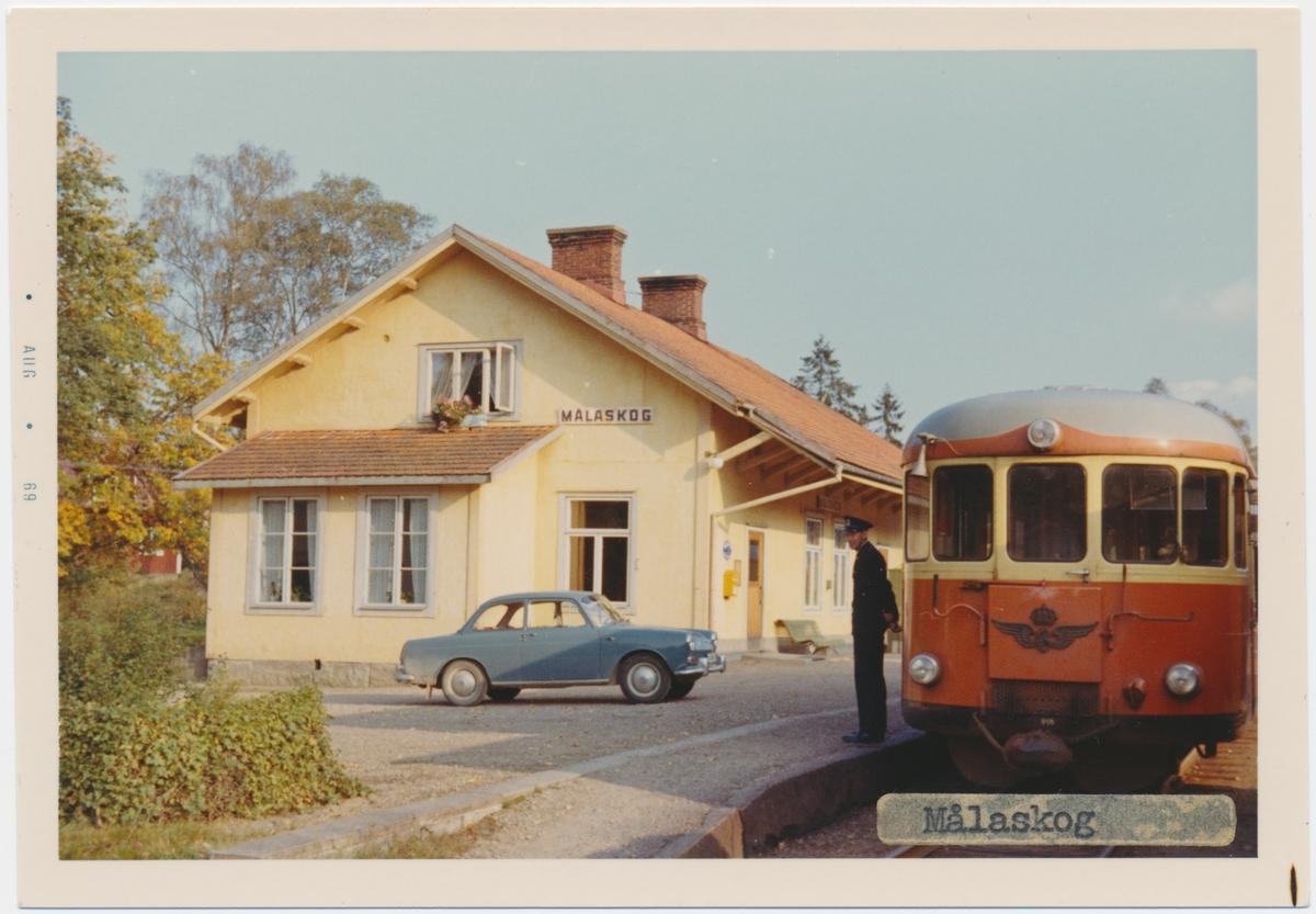 Målaskog station, byggd år 1889