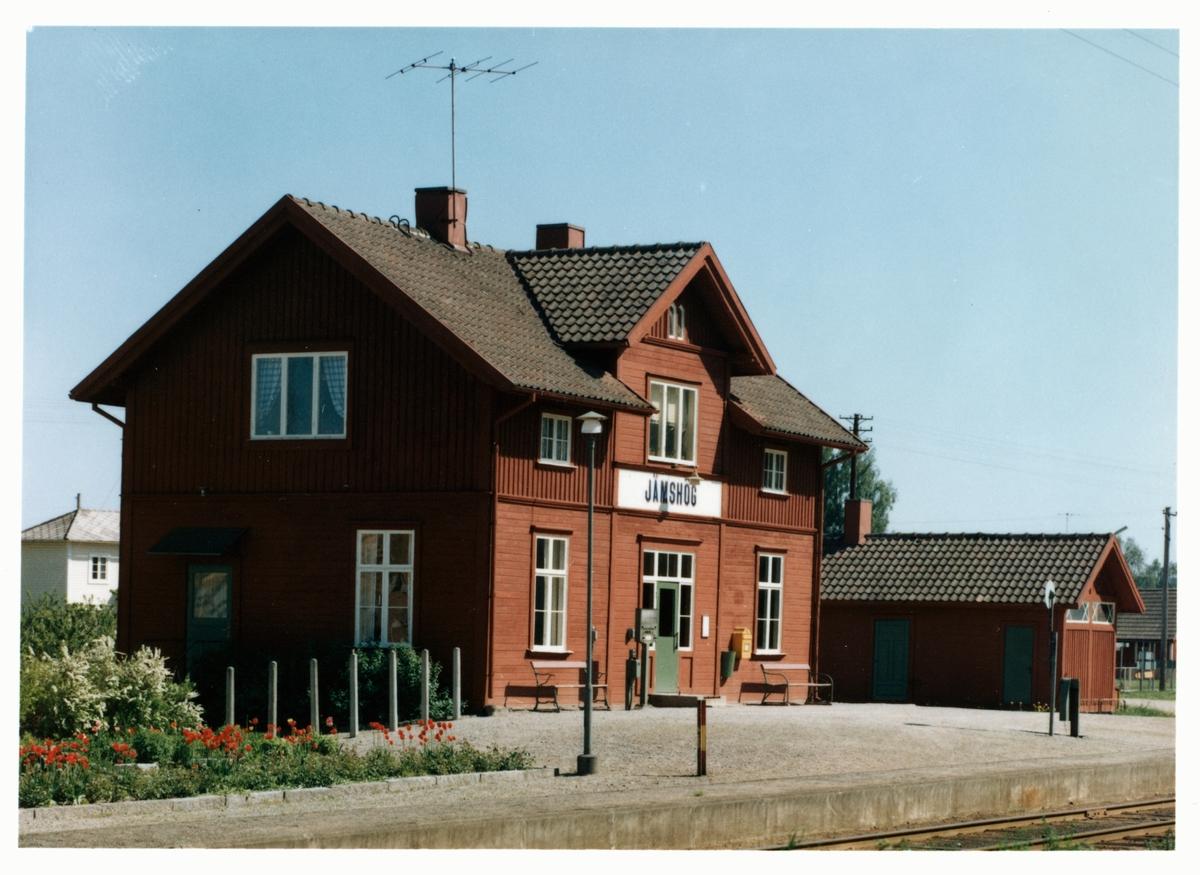 Jämshög station. Tidigare namn Jämshögsby.
