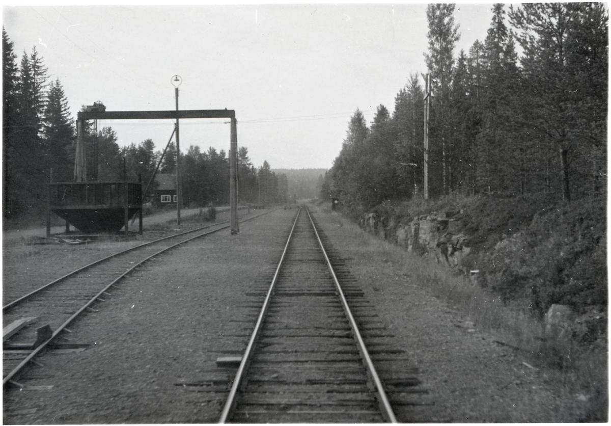 Vy över bangården någonstans på sträckan Vansbro - Särna - Mora - Älvdalen.