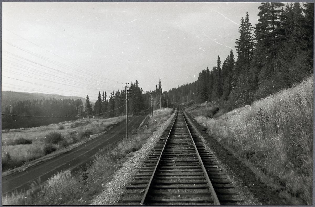 På linjen mellan Mora - Älvdalen.