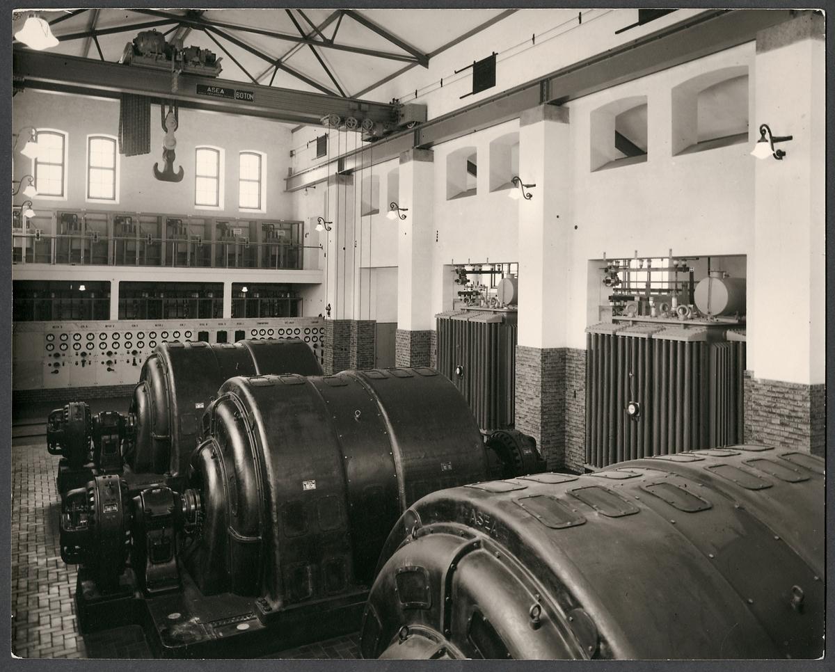 Omformarstationens elmotorer.