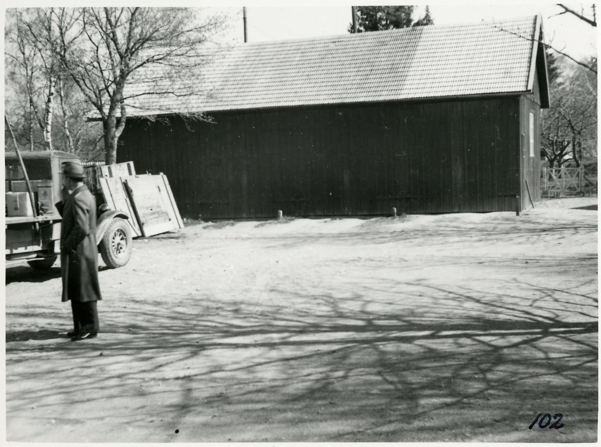 Förrådshus eller garage.