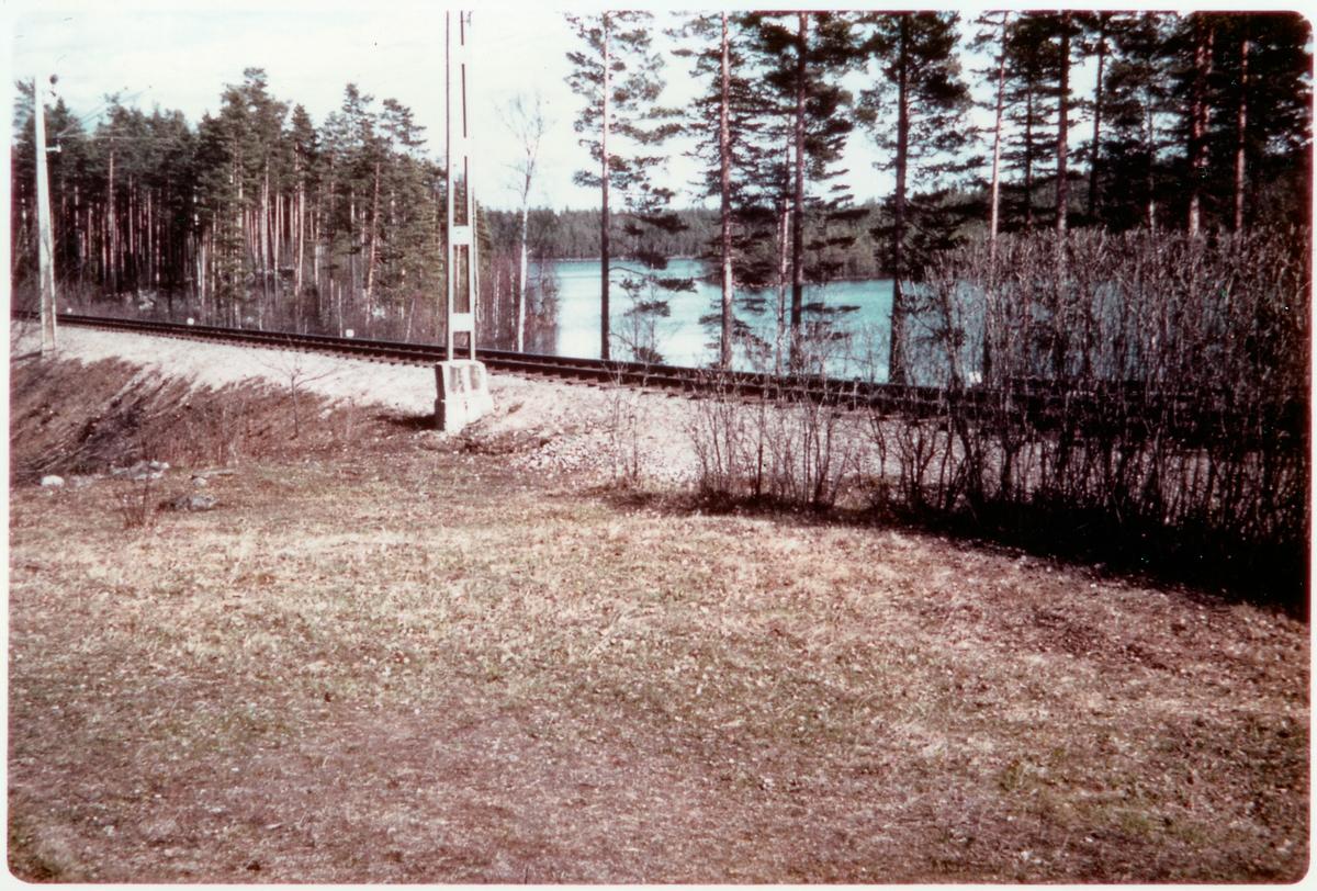 Vid Hornsjön på linjen mellan Korsån och Born.
