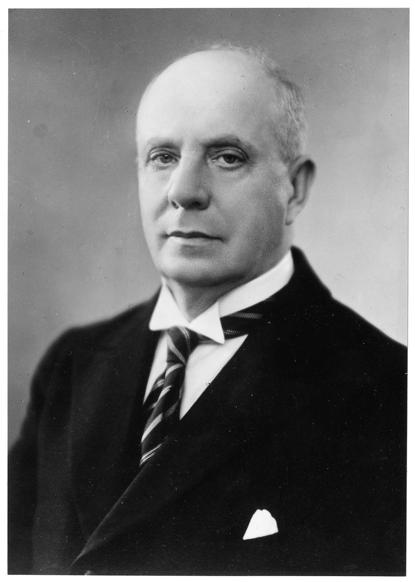 Stationsföreståndare Johan Erik Karsberg.