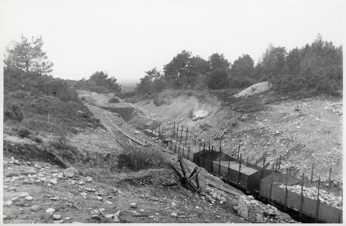 Sandåkra grustag på linjen mellan Mellby och Tjörnarp.