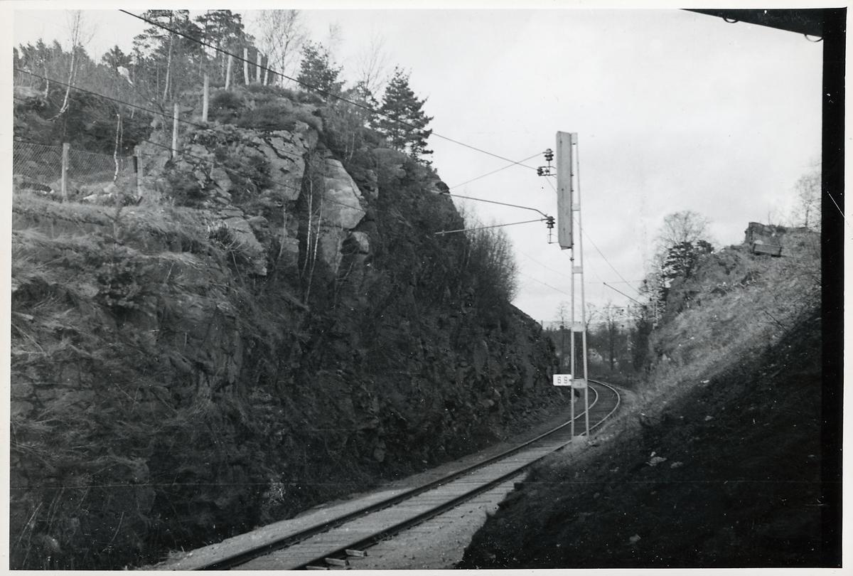 Linjen mellan Borås och Sjömarken.