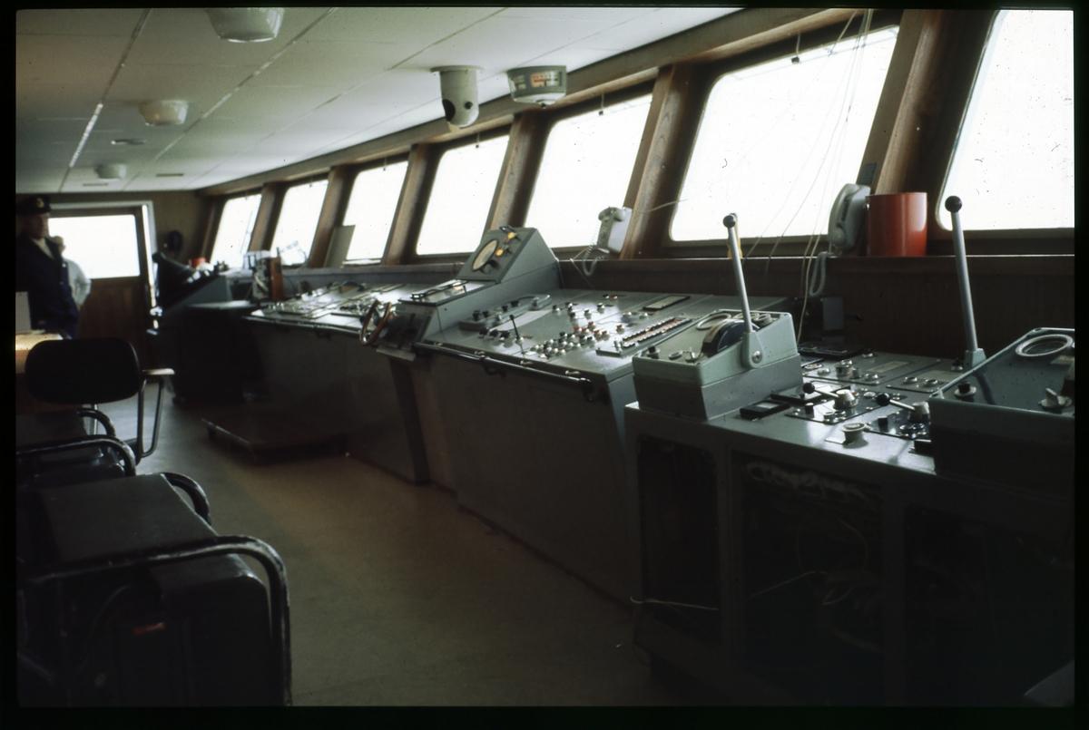 Kontrollrum ombord färja.