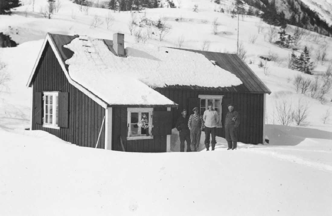 Marsøra. Delerbrakka. Alf Solvang, Mathias Granhaug, Agnar Greva.