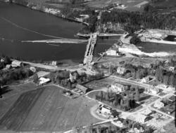 Flygfoton över Hammarforsens kraftverk med omgivningar.