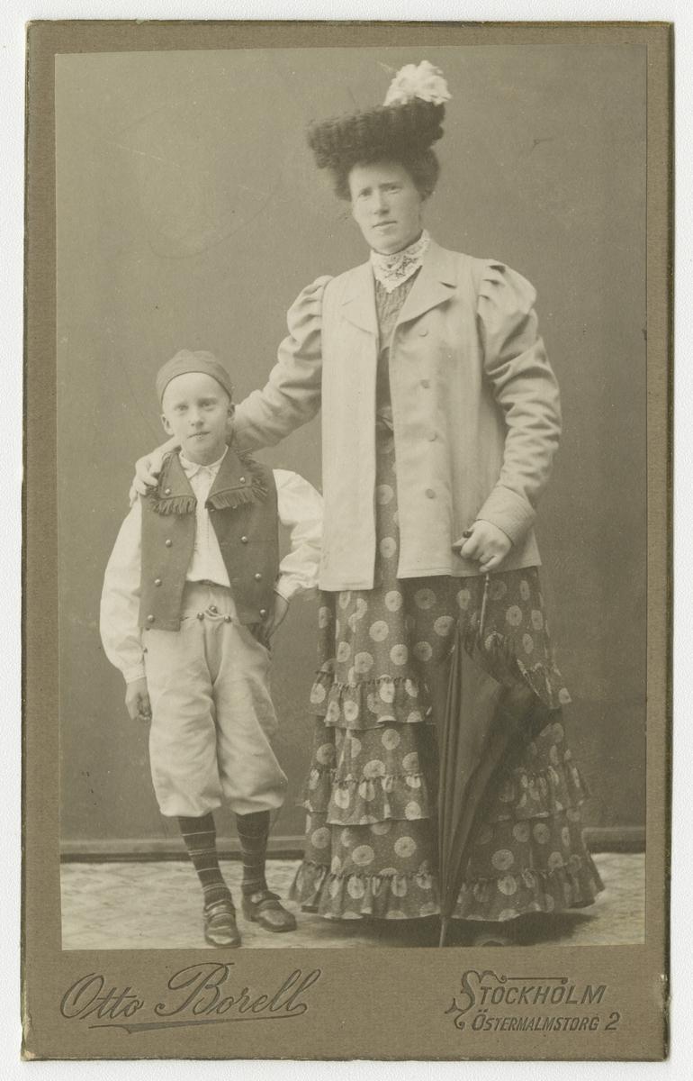 Porträtt av Kristina och Bror Ivar Malmsten.