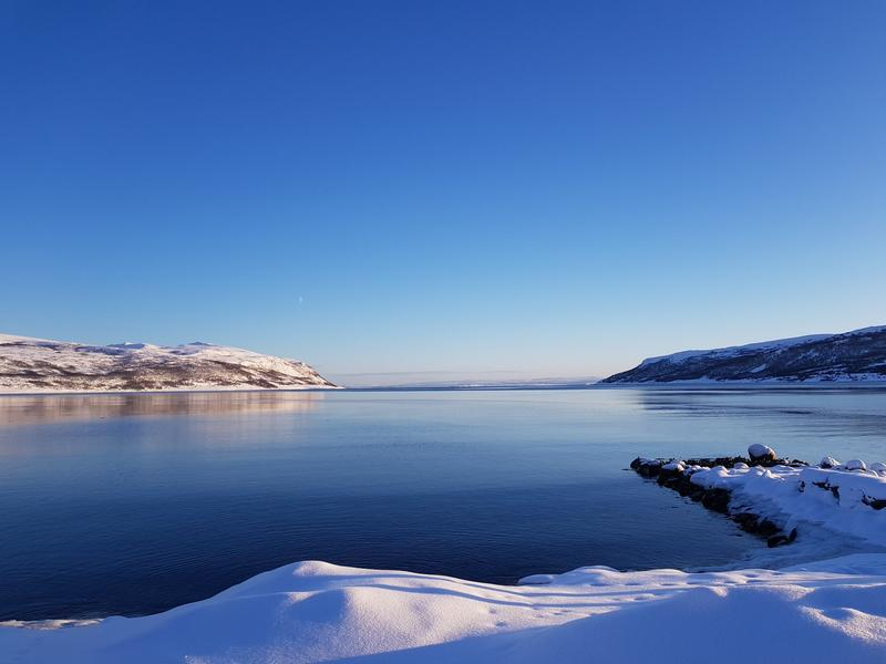 Utsikt over Olderfjord, februar 2019 (Foto/Photo)