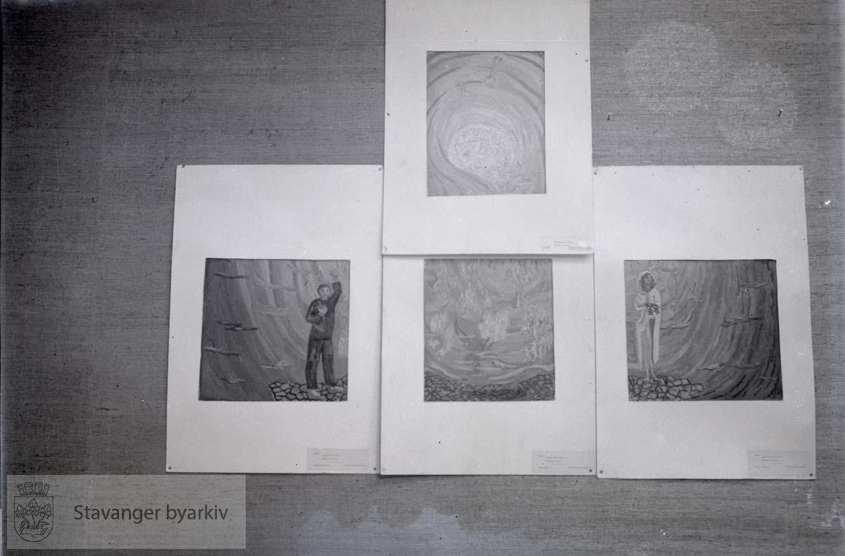 Utstilling av malerier , krematoriekonkurransen