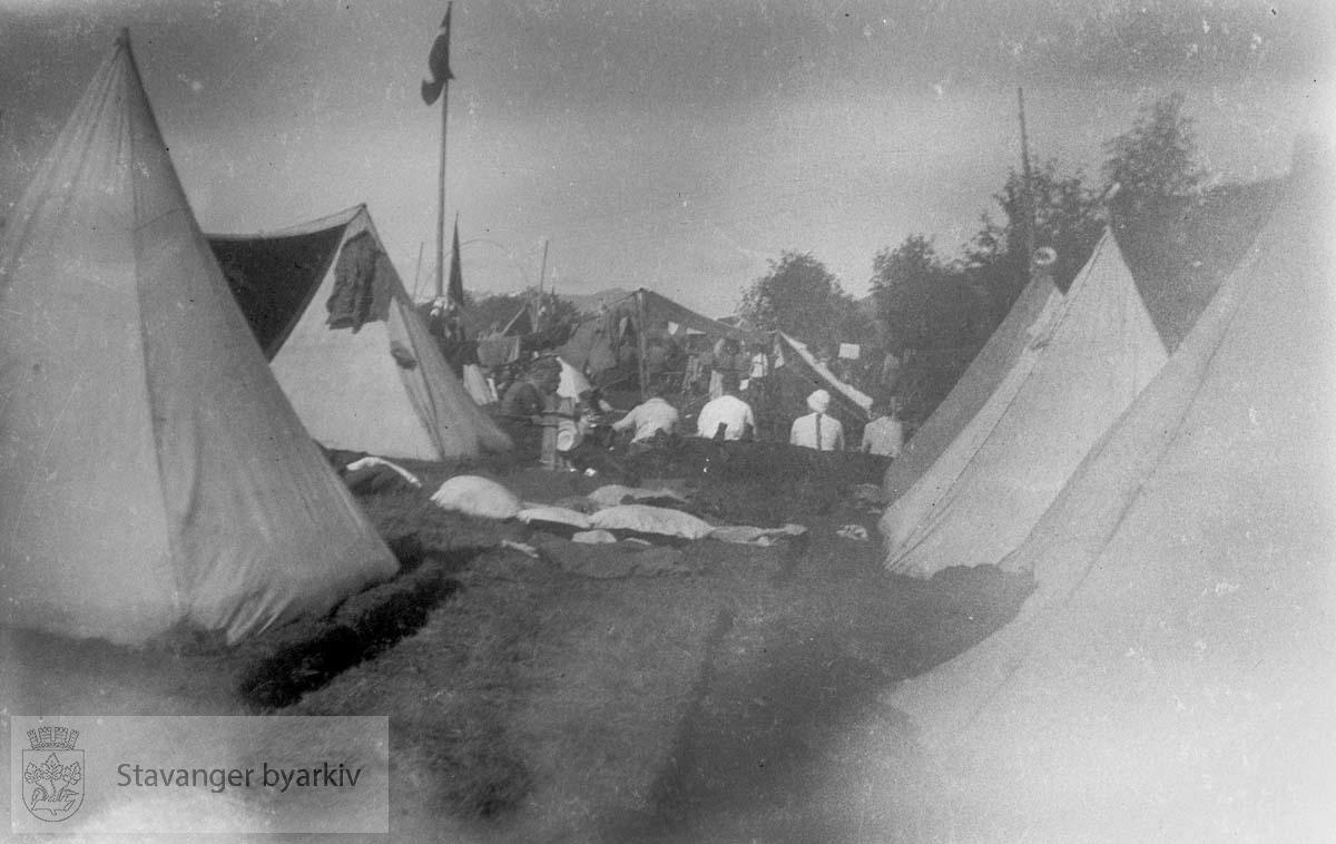 Speidere ?.Camping ? Sommeren 1929/30: Prekestolen