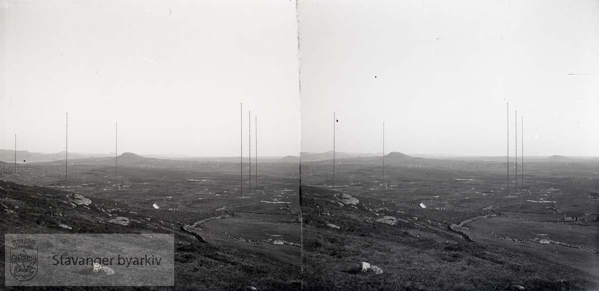 Stereofotografi. Radiomaster ved Ullandhaug..