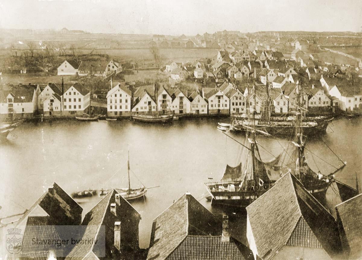 Vågen sett fra Valberget i 1869