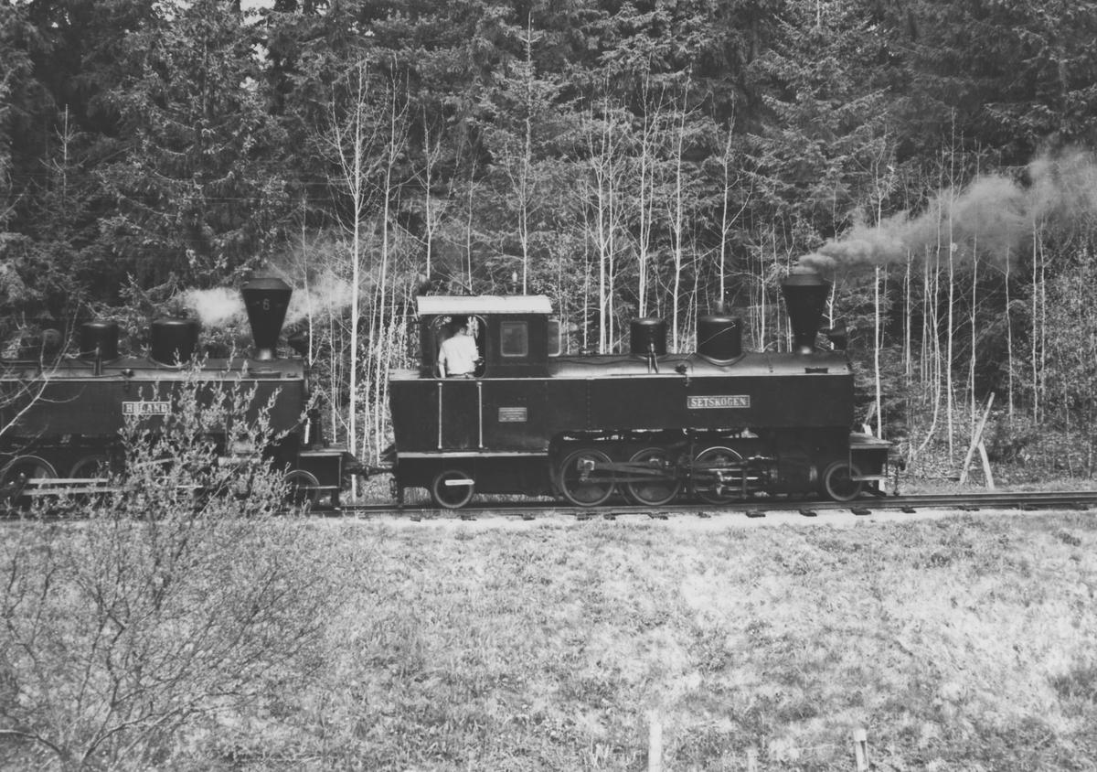 Første tur med lok 4 Setskogen på museumsbanen