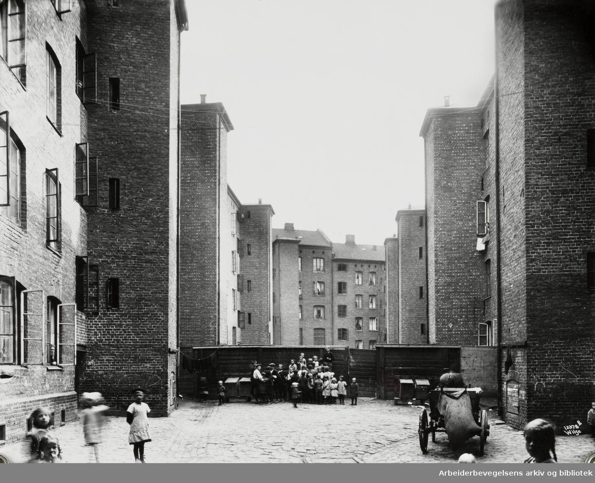 """""""Gråbeingårdene"""" på Tøyen. 1920 - 1929"""