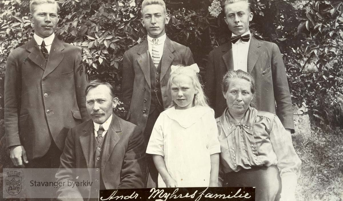 Andreas Myhre med familie