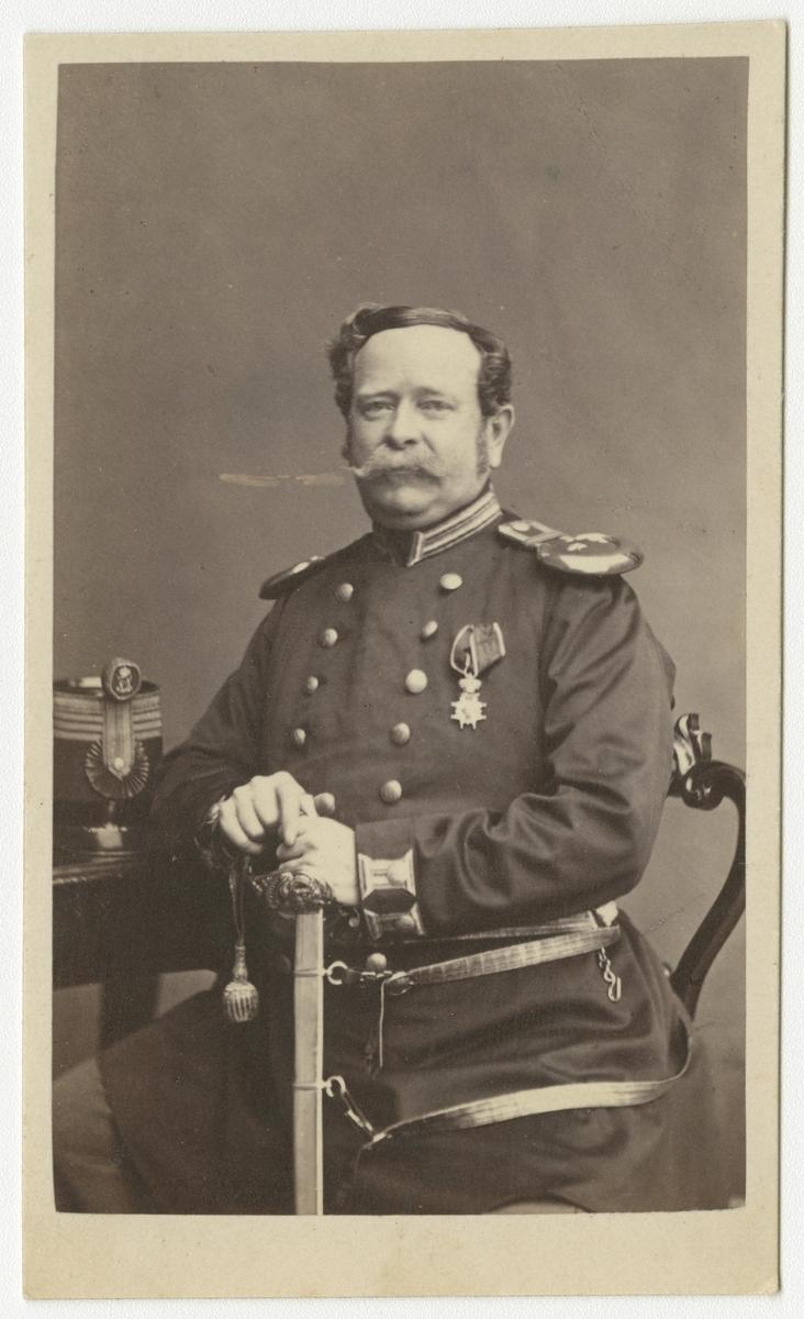 Porträtt av Carl Gustaf Waller, kapten vid Västmanlands regemente I 18.
