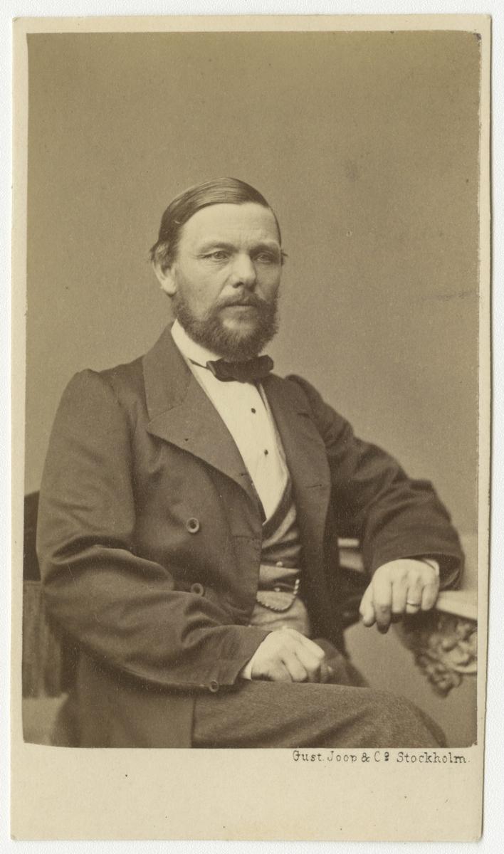 Porträtt av Josef Julius af Sillén, officer vid Västmanlands regemente I 18.