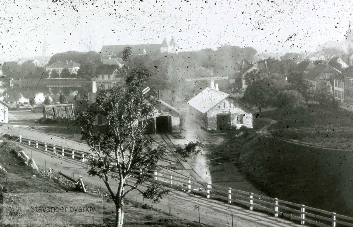 Utsikt mot jernbanen, Breiavatnet og Kongsgata