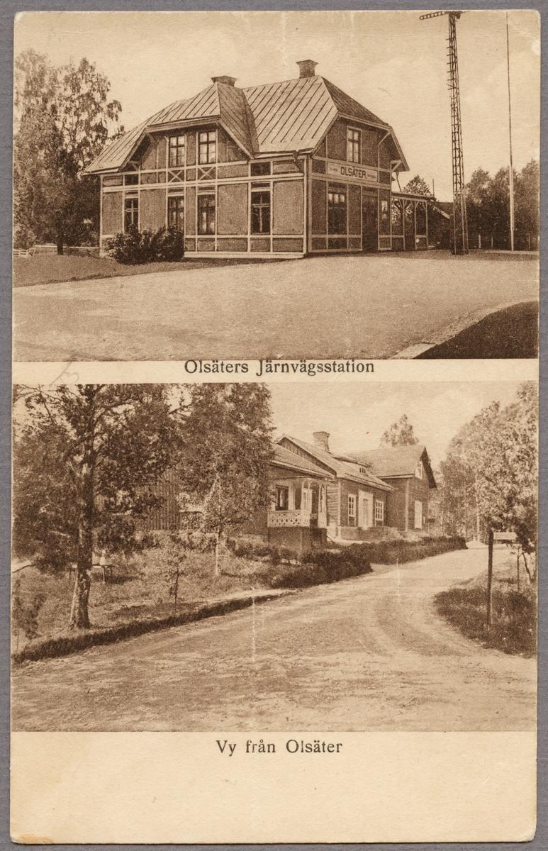 Station och byggnader i Olsätter.