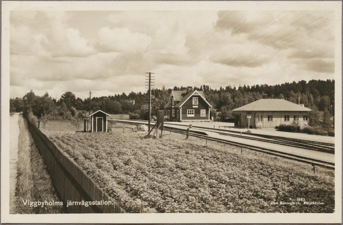 Viggbyholms Järnvägsstation.